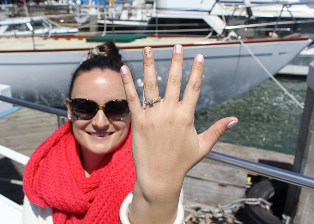 """Ciera, moments after she said, """"Yes!""""."""