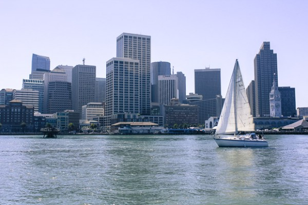 Sailing in the bay.